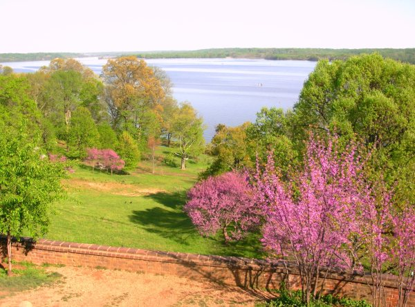 No wonder he wanted to go back! This is the view from Washington's porch, Mount Vernon, Virginia, April 2010.