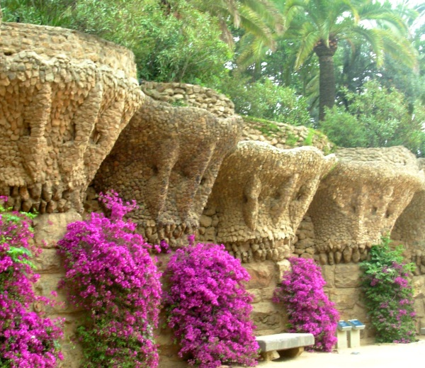 This is about the most normal-looking you'll find in Park Guell,  but it's a good representation of how beautiful a place it is.  May 2008