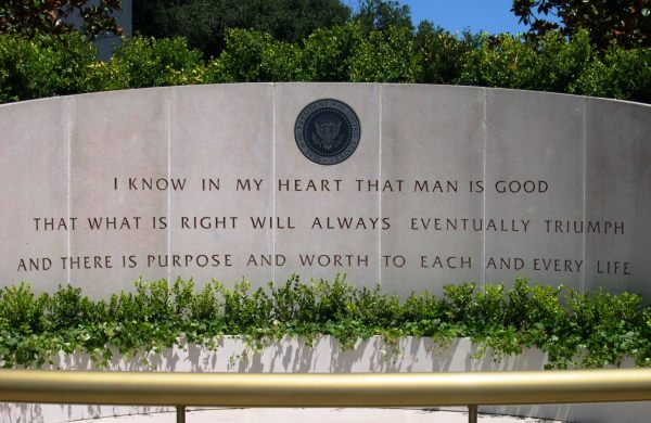 This quote from Ronald Reagan marks his tomb at the Reagan Library in Simi Valley, California, July 2004.