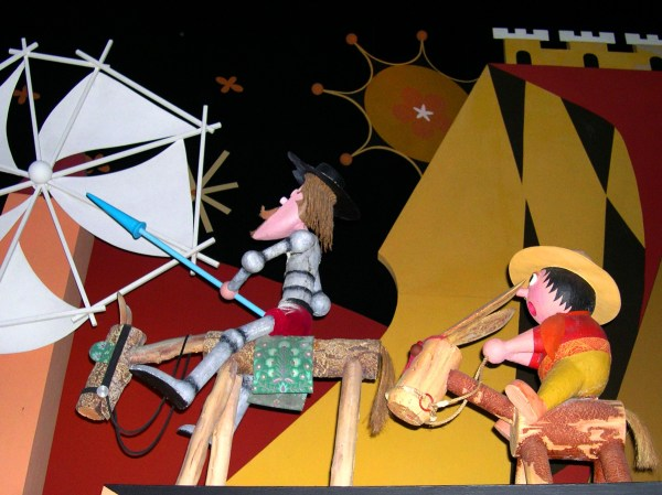 """Disney's """"It's a Small World"""" features Don Quixote and Sancho Panza. Walt Disney World, August 2003"""