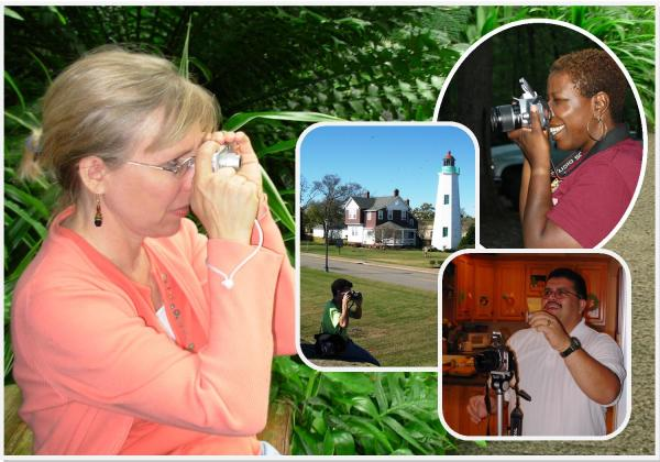 Kathy, LaRhodia, Andy and Robert capture memories through photography. I took these photos at various times during 2004-2008.