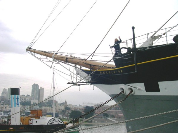 Jeff snapped this photo of me aboard the Balclutha in San Francisco,  during one of the riskiest seasons of my life.  November 2003