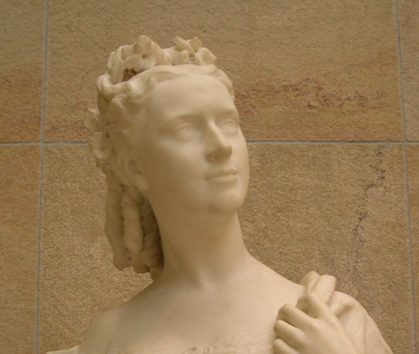 Beautiful on the outside, but nothing hidden shines through. A sculpture at the Musée D'Orsay, Paris, August 2005