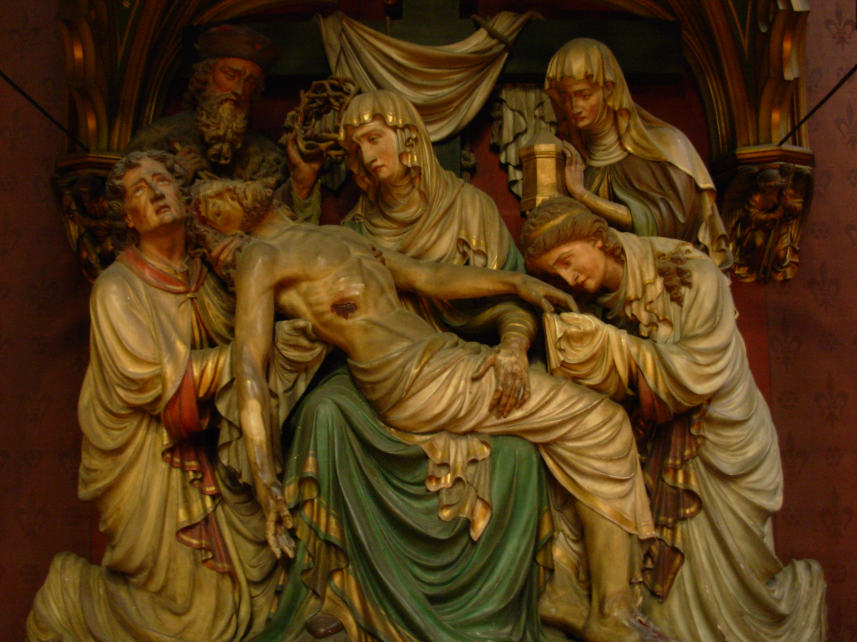 I photographed this sculpture inside Cologne Cathedral, May 2007.