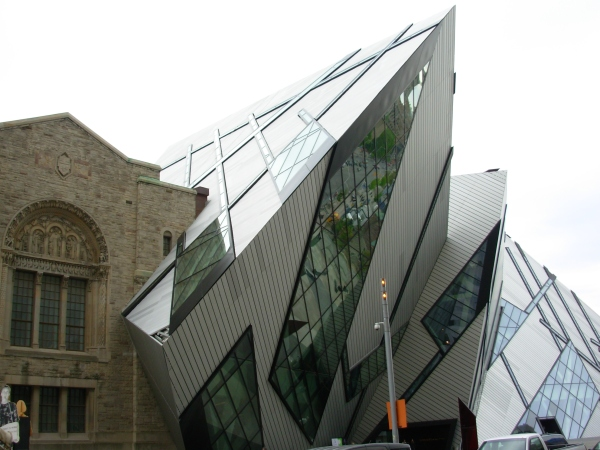 This 2007 addition to the Royal Ontario Museum in Toronto gives us a stark reminder of the difference between past and future.  May 2009