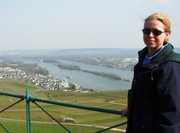 This April day was part March, part May, all fun. Overlooking the Rhine River in Germany, April 2007