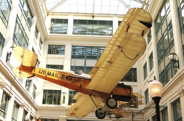 This de Havilland DH-4B (the improved version of the DH-4) is on display at the National Postal Museum in Washington, DC.  April 2014
