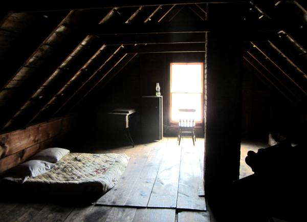 The attic of Robert Frost's farm was cool, dark and soothingly quiet. Derry, New Hampshire, September 2012