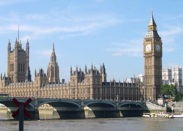Big Ben and Parliament seem the quintessential symbols of orderly British discipline and punctuality.  August, 2005