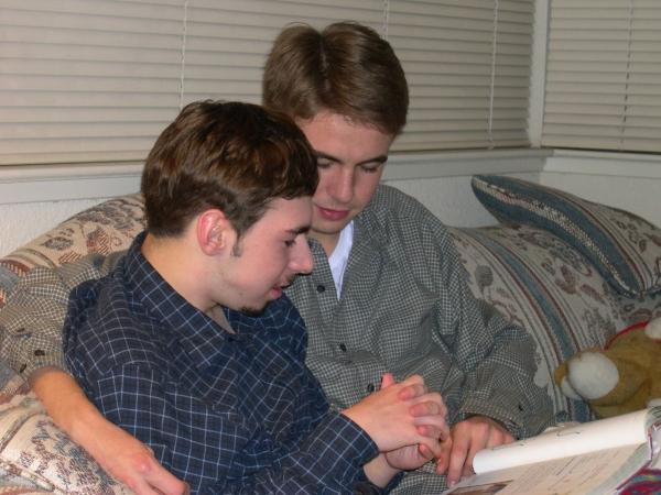 Drew, Matt's best friend, has always loved him with words AND deeds. Vacaville, California, 2002