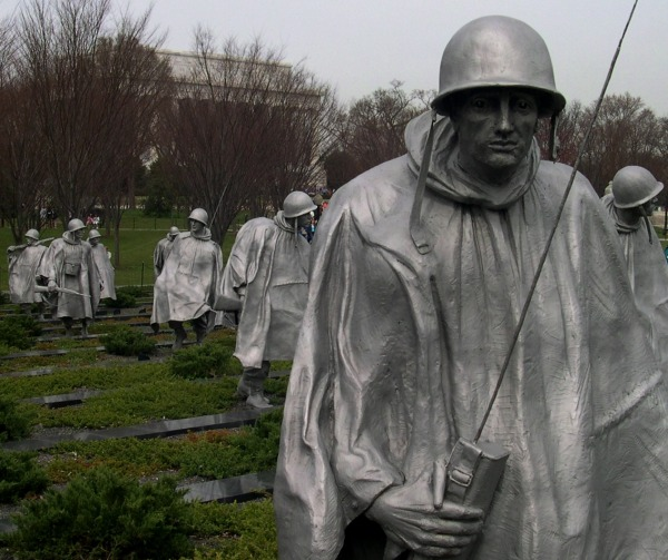 A partial view of the Korean War Veterans Memorial, Washington, DC, March 2005