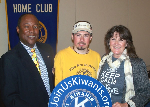 Matt with Darla and Nathan Hill, President, Kiwanis Club of Williamsburg, April 2014
