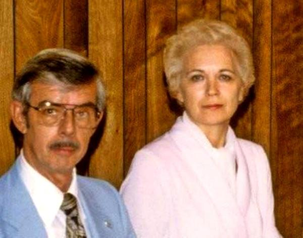 Mama and Daddy at our wedding rehearsal dinner in Nashville,  June 1980