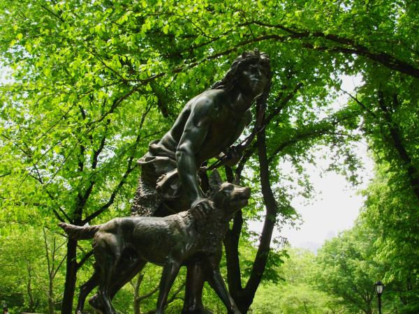Indian Hunter by John Quincy Adams Ward, Central Park, New York City; May 2007