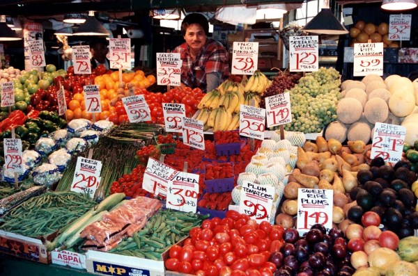 Gorgeous nourishment from nature's menu at Pike Place Market, Seattle, April 1993