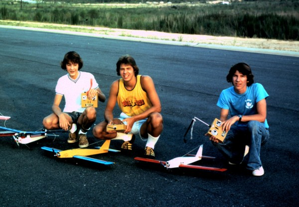 Mike, Al and Don, before they swapped radio-controlled planes for bigger ones. Sometime in the early 1970's, somewhere in the Atlanta area.