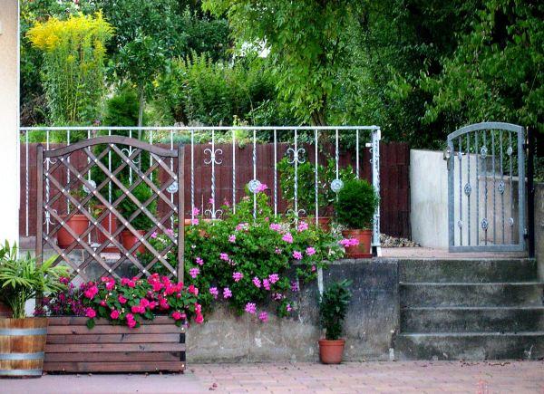 Amy's open gate, a fitting symbol of her open heart.  Winnweiler, Germany, August 2005