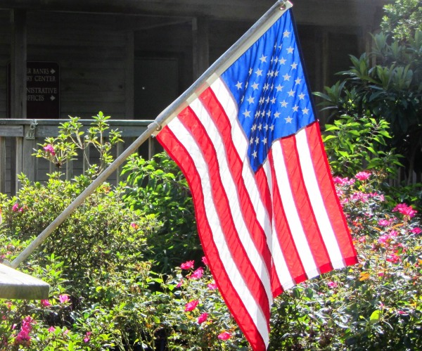 The U.S. flag flying at Roanoke Island, North Carolina, September2013