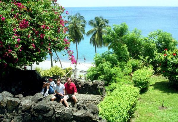 Drew, Matt and Jeff in St. Pierre, Martinique, June 1998