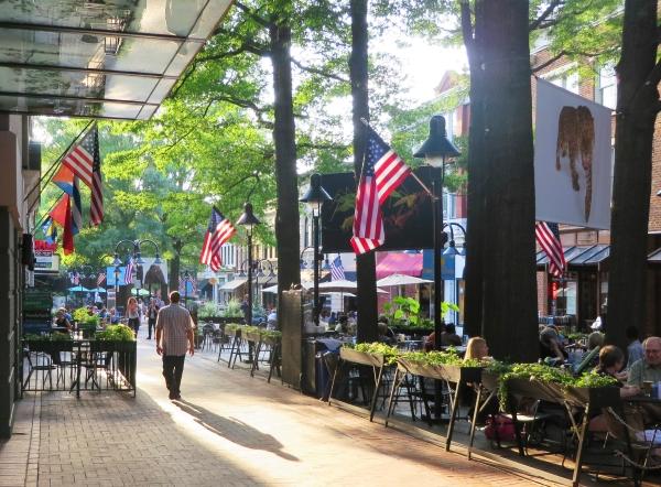 Jeff enjoys an evening stroll in Charlottesville, Virginia, July 2014