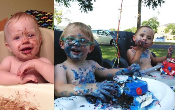 Grady, Braxton and Bailey having some summer fun.  July, 2014