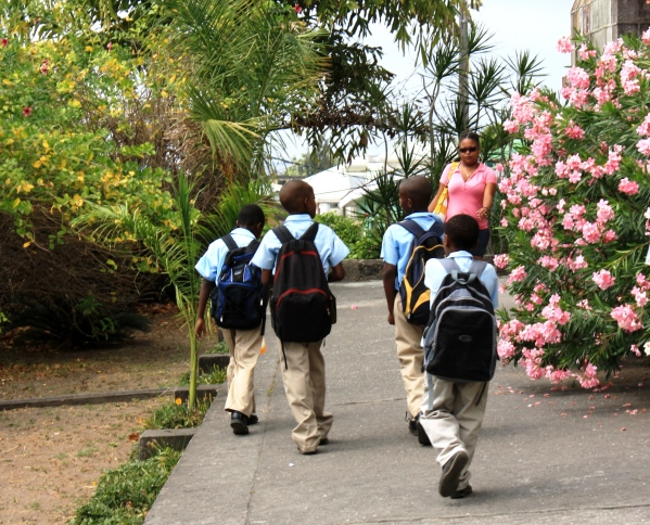Today's students, like all of us, will learn more outside the classroom than inside it.  I photographed these school children in Dominica, March 2010.