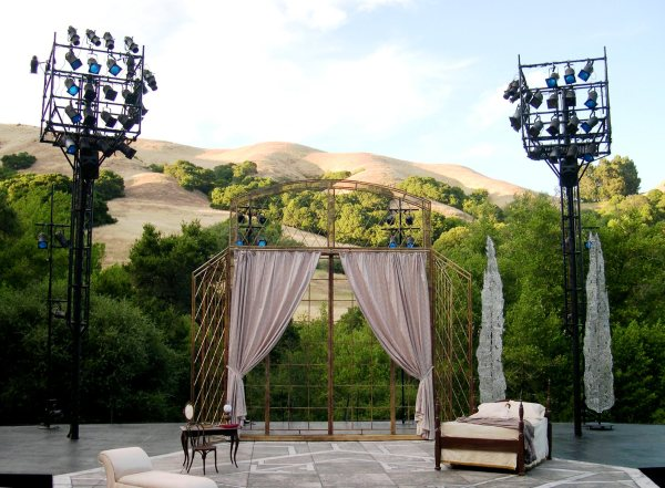 The stage is set for the performance of your life.  Break a leg! California Shakespeare Theater, Orinda, July 2003