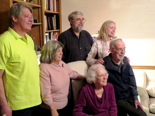 Mama and Daddy with their aging children, January 2014