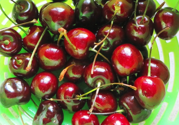 These cherries were so lovely I had to photograph them before I ate them!  July 2014