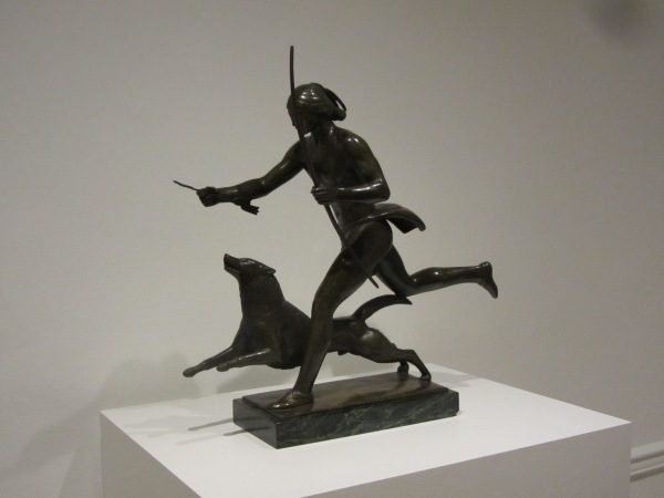 Indian Running with Dog by Paul Manship Exhibited at the Corcoran Gallery, Washington, DC, July 2013