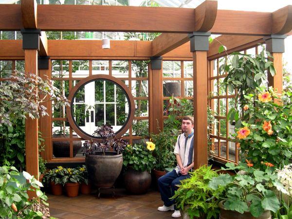 Matt enjoys the silence at the conservatory in Golden Gate Park. San Francisco, October 2003