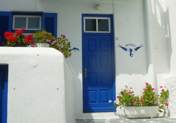 Only one doorway, but its beauty blesses all who see it. Mykonos, Greece, May 2008