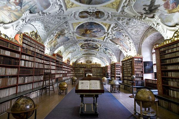 """This beautiful library is filled with symbols of our abundant gifts. """"Strahov Theological Hall, Prague - 7573"""" by Jorge Royan - Own work. Licensed under Creative Commons Attribution-Share Alike 3.0 via Wikimedia Commons - http://commons.wikimedia.org/wiki/File:Strahov_Theological_Hall,_Prague_-_7573.jpg#mediaviewer/File:Strahov_Theological_Hall,_Prague_-_7573.jpg"""