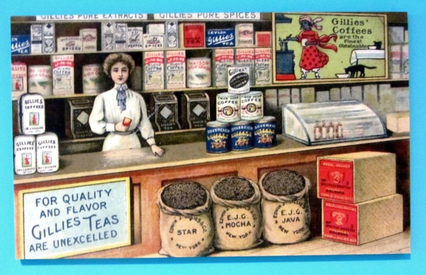 """I photographed this antique postcard in September, 2013, at the Museum of the Albemarle, Elizabeth City, NC, The Museum's """"Steeped in Time: Tea and Traditions"""" exhibit runs through August 2015."""