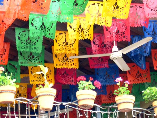 I was delighted by this colorful balcony in Puerto Vallarta, Mexico, March 2004.