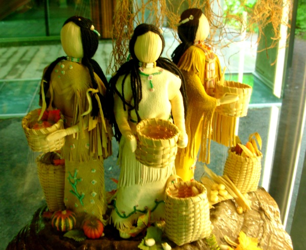 I photographed this harvest display at Montreal Botanical Garden, May 2009.