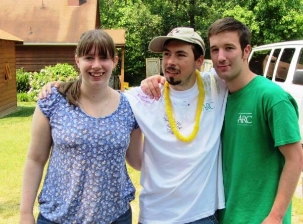 Matt with friends at Camp Baker, 2012