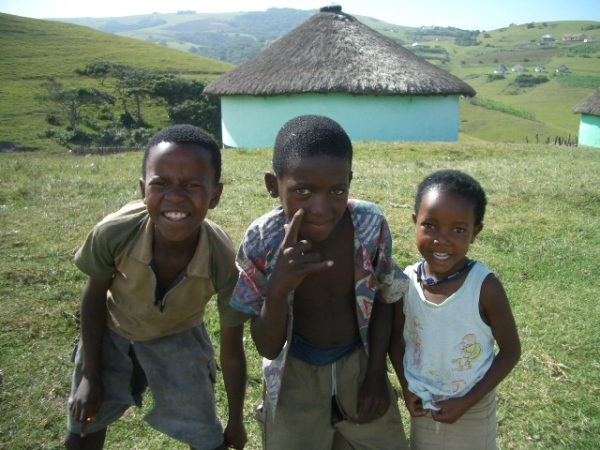Xhosa children by via Wikimedia commons