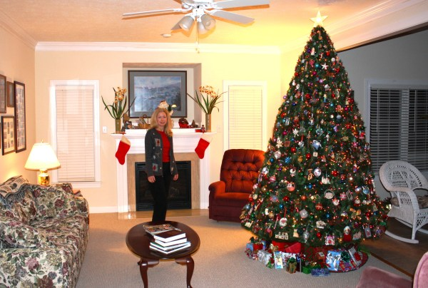 Jeff snapped this photo of me just before guests arrived at our York home, December 2010.