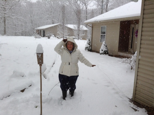 Meanwhile, Carla and George enjoyed the snow at their Alabama homes...