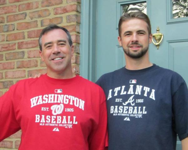 This photo was taken exactly one week before everything changed. Jeff and Drew were on their way to watch the Nats play the Marlins, 9-9-12.
