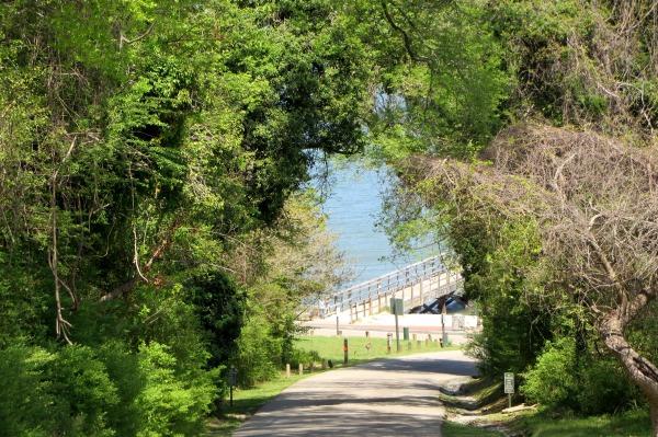 Yorktown garden stroll, pier April 2015