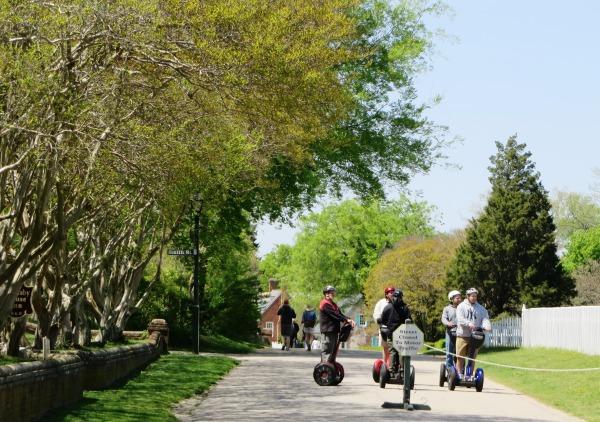 Yorktown garden stroll Segways April 2015