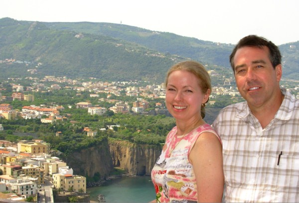 After decades of wishing, it was the vacation of a lifetime. Jeff and I enjoy the Amalfi Coast of Italy, May 2008.