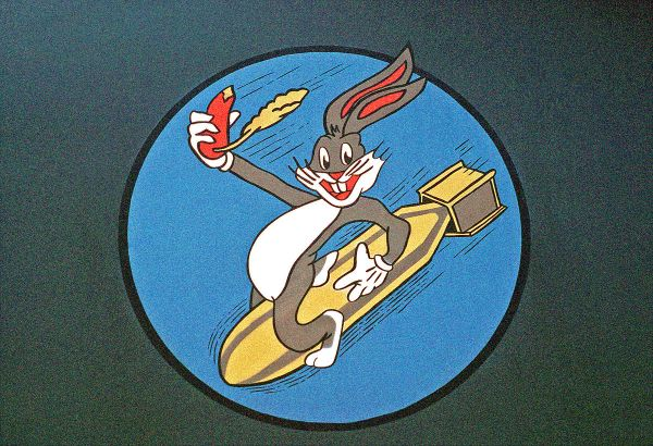 A youthful Bugs Bunny appeared as nose art on many Allied planes in World War II. FB-111 Bugs Bunny Image by  MSGT Jose Lopez Jr., USAF photographer - National Archives and Records Administration via WC