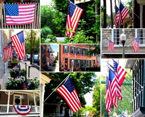 The flags were flying proudly in Lancaster County, Pennsylvania, June 2015