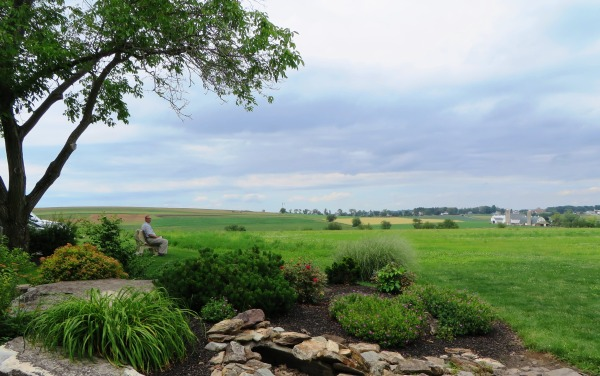 Jeff relaxes while appreciating the beauty of Lancaster County, Pennsylvania, June 2015.
