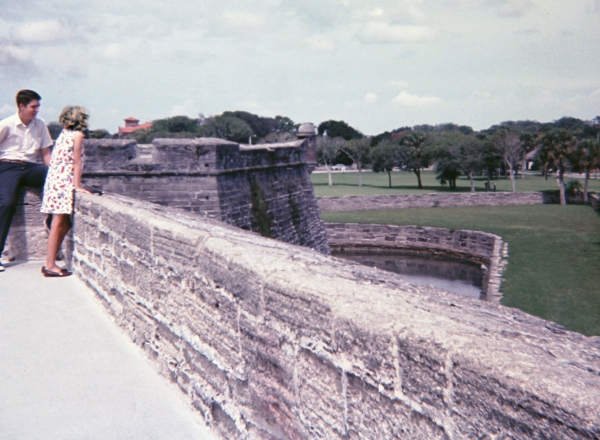 Eric and me at Castillo de San Marcos, Florida, sometime in the 1960's