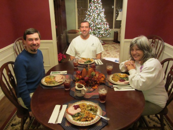 Our last Thanksgiving BC (before cancer), Alexandria, November 2011.