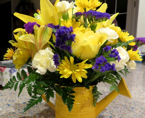 A thoughtful friend sent these flowers on New Year's Eve, 2015. She knew this season was a difficult one for us, so she sent bright flowers to cheer us.